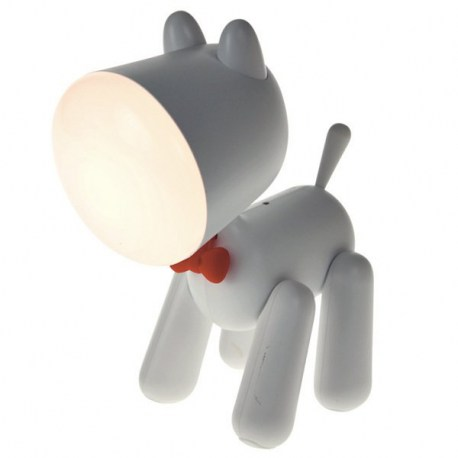 Puppy Nachtlamp Wit